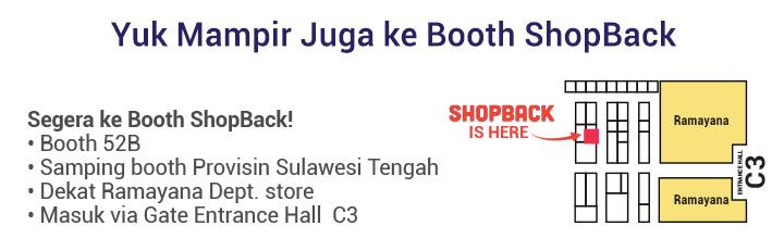 Booth ShopBack di Pekan Raya Jakarta