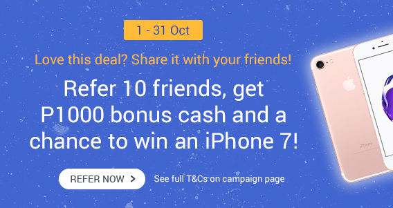 Refer 10 friends and get a chance to win an iPhone7