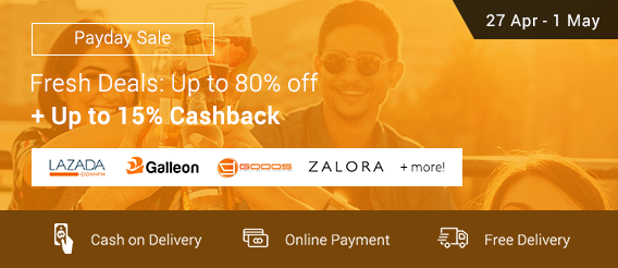Ends 1 May | Fresh Deals: Up to 80% off + Up to 15% Cashback