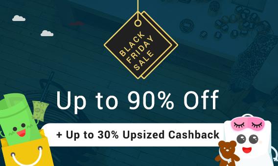 Black Friday Sale Up to 30% Upsized Cashback