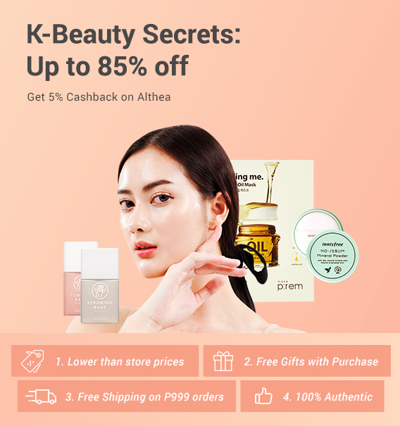 K-Beauty Secrets: Up to 85% off + Get 5% Cashback on Althea