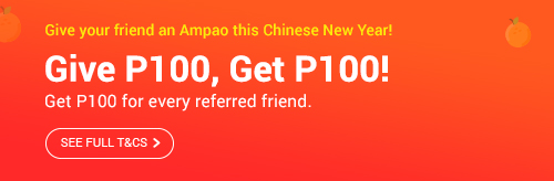 Give your friends an Ampao this CNY and get P100 back!