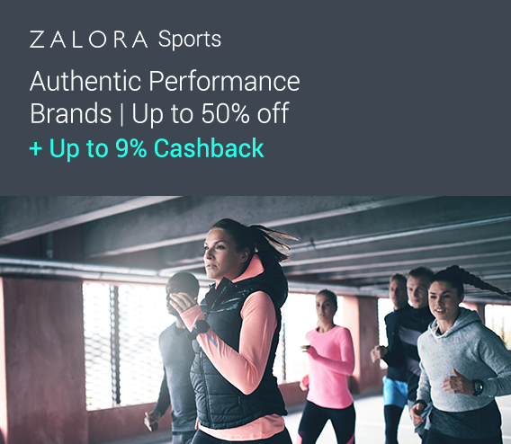 ZALORA Sports: Get up to 50% off on sports brands + Up to 12% Cashback