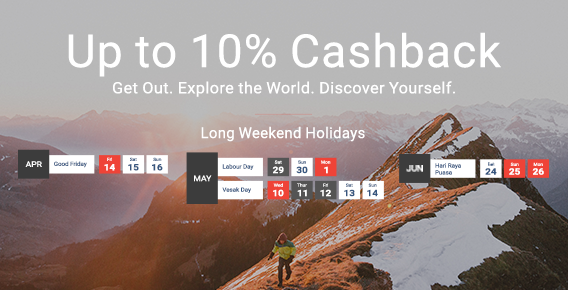 Online Travel Sale - Up to 60% off + Up to 8% Upsized Cashback