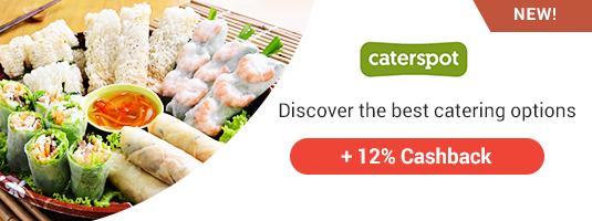 caterspot +12% Cashback