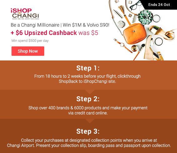 iShopchangi Upsized Cashback
