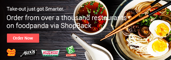 Take out and get Cashback via foodpanda and ShopBack