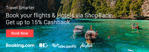 Travel more and spend less: Get discounts and Cashback with ShopBack