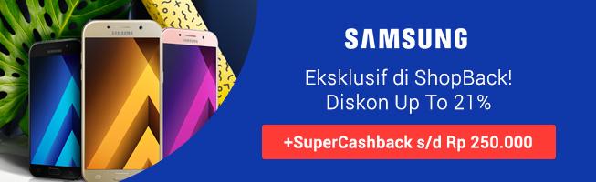 Promo Super Cashback Samsung Galaxy A
