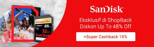 Promo Super Cashback Sandisk