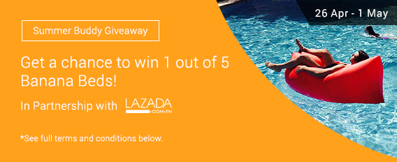 Summer Buddy Giveaway: Get a chance to win 1 of 5 Banana Beds from ShopBack and Lazada