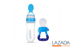 2 in 1 Baby Feeder Bottle (Blue)