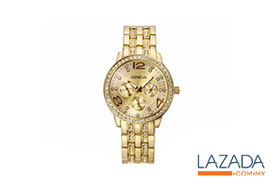 Women's Rhinestone Analog Watch
