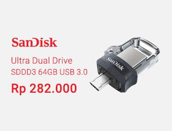 SanDisk Ultra Dual Drive m3.0 64GB USB 3.0 OTG Flash Drive